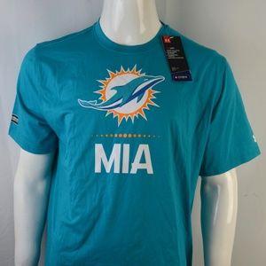 Under Armour Men's T shirt XL Miami Dolphins NFL